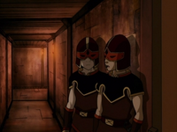 Zuko and Sokka as guards