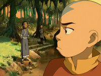 Aang is distracted
