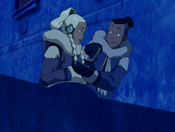 Sokka attempting to woo Yue