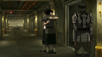 Mako and Bolin share a hug