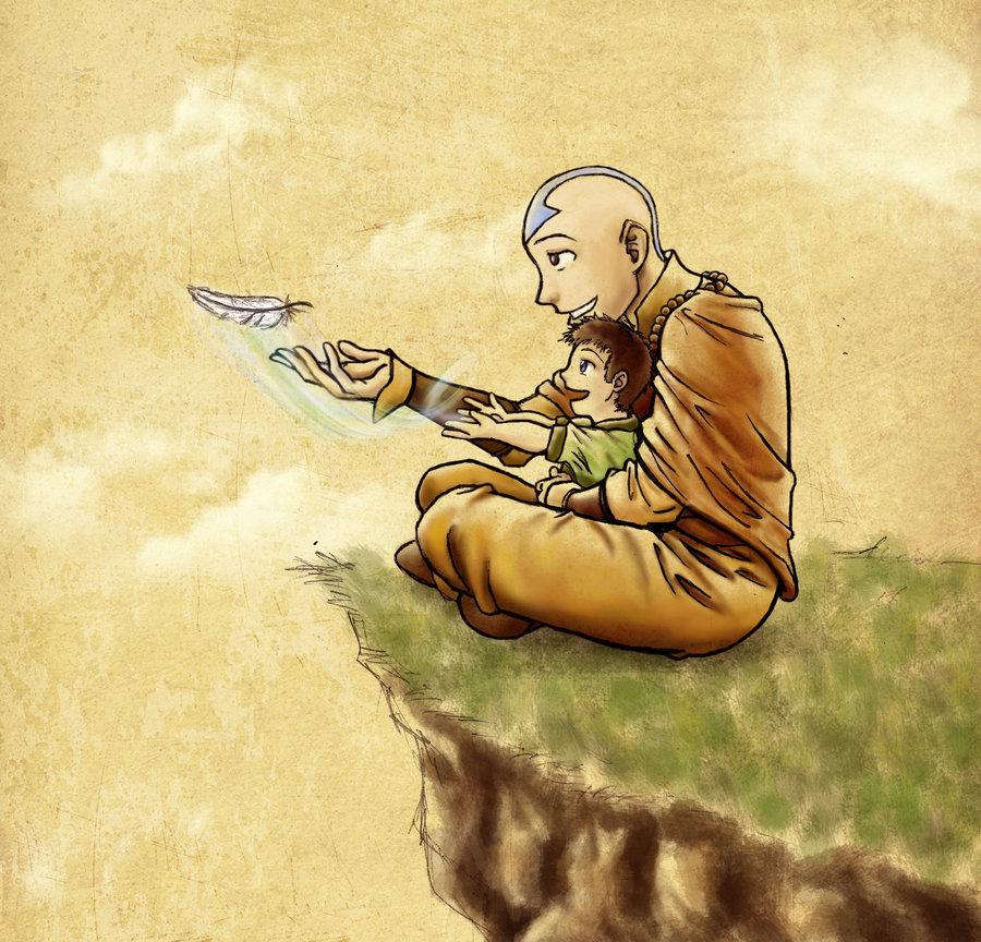 Hidden City Mystery Of Shadows Avatars: Image - Aang And Tenzin.jpg