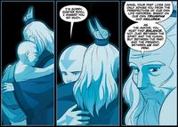Aang and Roku reunite