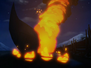 Zuko's ship burning