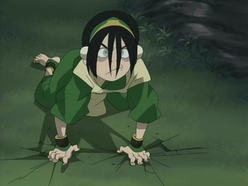 Toph angry