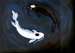 Yin and Yang Koi fish by firreflye2