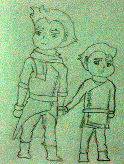 Chibi Mako and Bolin1