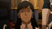 Korra tears up