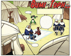 Bumi vs. Toph, Round One cover