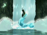 Katara creates a waterspout