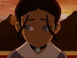 Katara looks sorrowful