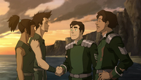 Bolin and Baraz shaking hands
