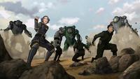 Beifongs versus Earth Empire soldiers