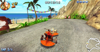 Aang racing in Nick Racers Revolution 3D