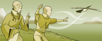 Aang and Gyatso kiting