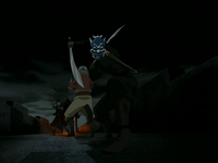 Aang rescued by the Blue Spirit