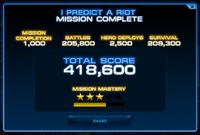 Mission Score Screenshot
