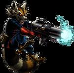Rocket Raccoon Portrait Art