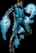Blue Marvel Portrait Art
