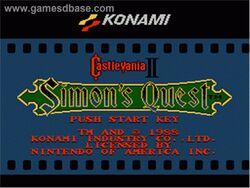 Castlevania 2 title screen