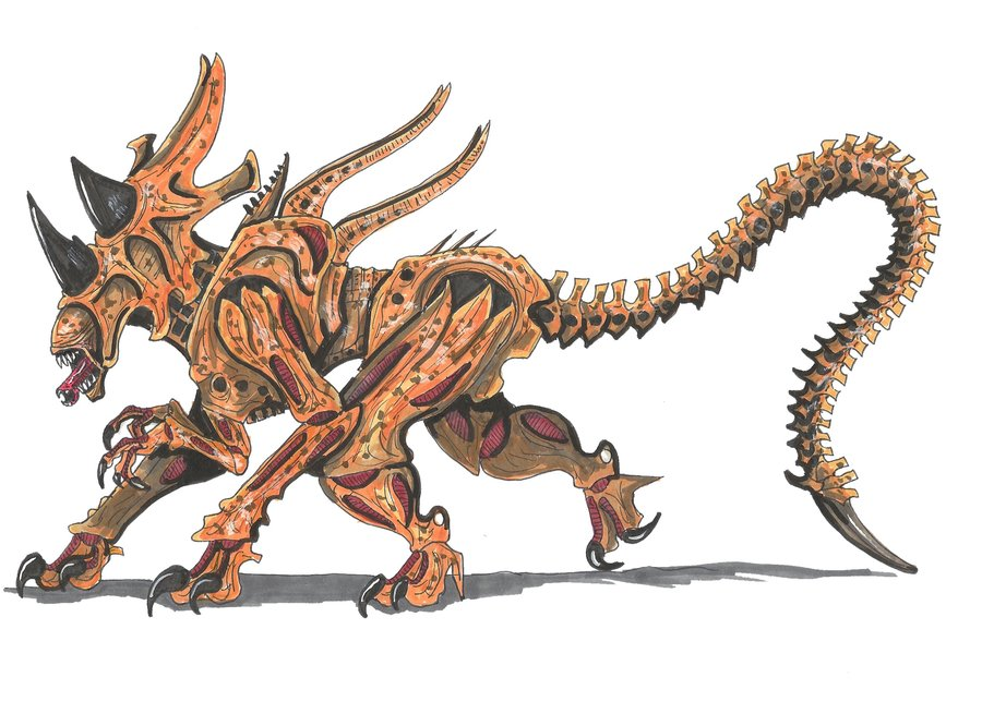 Image - Rhino alien queen by hellraptor-d4r4t3m.jpg - 105.2KB