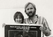 Gale Ann Hurd and James Cameron