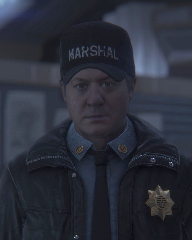 Marshal Waits as he appears in Alien: Isolation