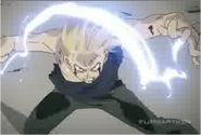Edward Elric Fighting Father After Getting His Right Arm Back