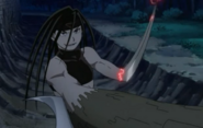 Envy Having Transformed His Left Arm into Blade
