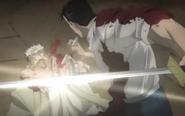 Fuhrer King Bradley Nearly Kills Scar, Forcing him to use Alchemy