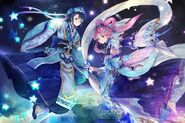Orihime Hikoboshi Yggdrasil PC Wallpaper