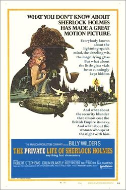 Private life of sherlock holmes 1970poster
