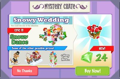 Snowy Wedding crate