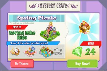 Spring Picninc Crate