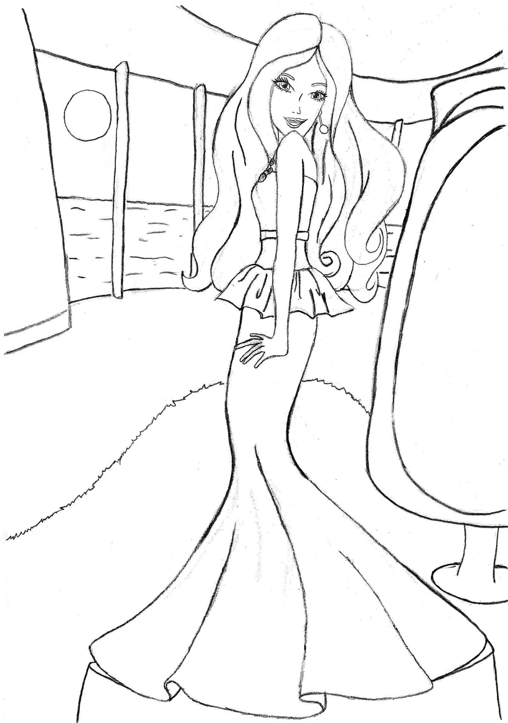 Free coloring page barbie - Image Coloring Pages Online Free Printable Barbie Coloring Pages