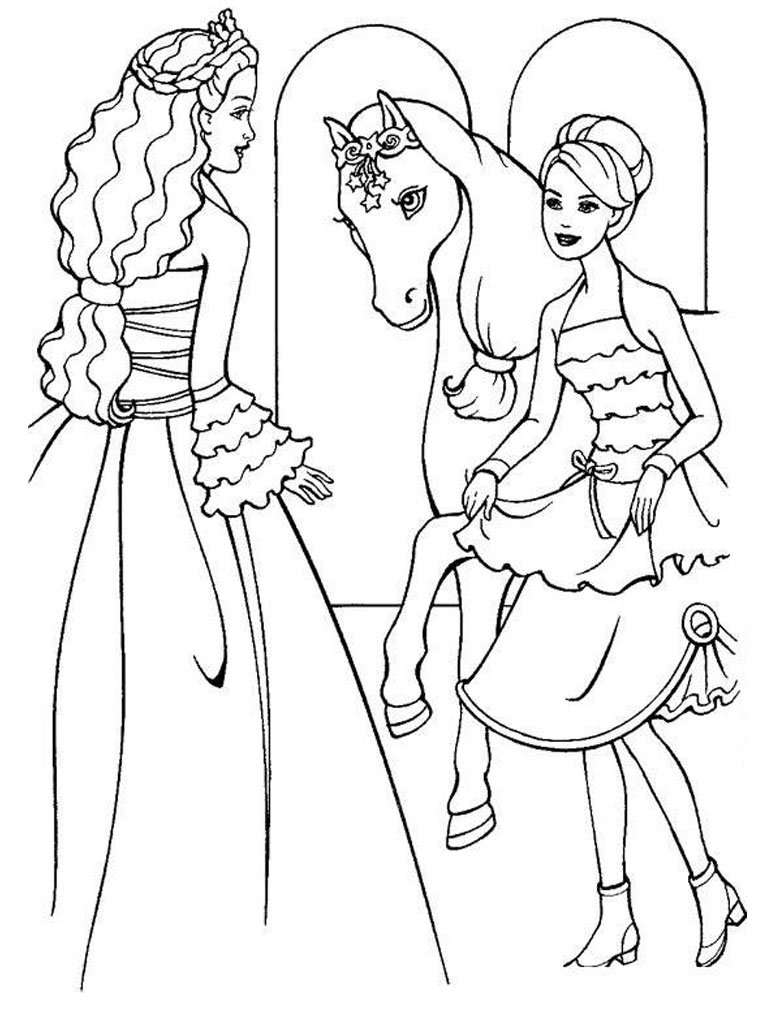 barbie and her sisters in the great puppy adventure coloring pages