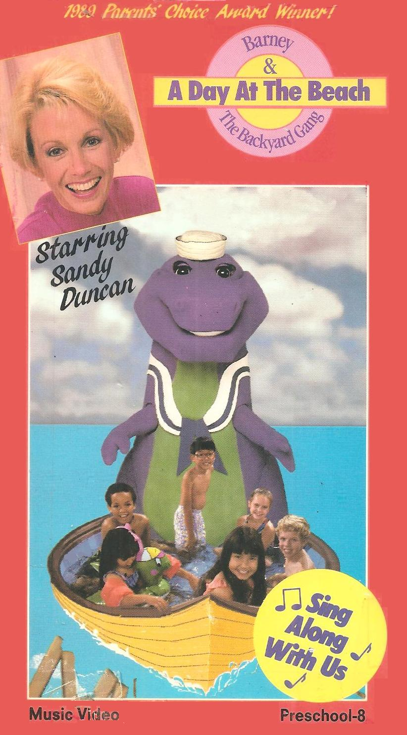 image a day at the beach original cover jpg barney wiki