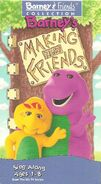 Barney's Making New Friends 1995 VHS Cover