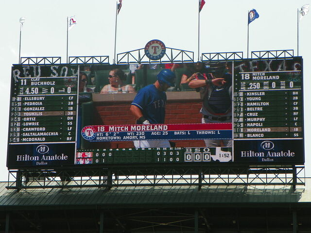 File:Rangers Ballpark Scoreboard.JPG