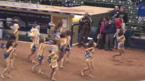 Milwaukee Brewers Diamond Dancers Perform at Miller Park - Let It Rock - Kevin Rudolf - HD
