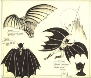 Bob Kane Batman Design