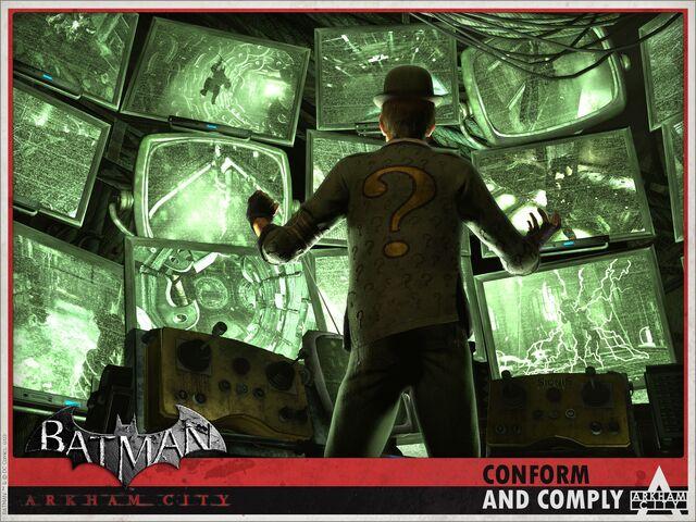 File:Batman- Arkham City Riddler Wallpaper.jpg