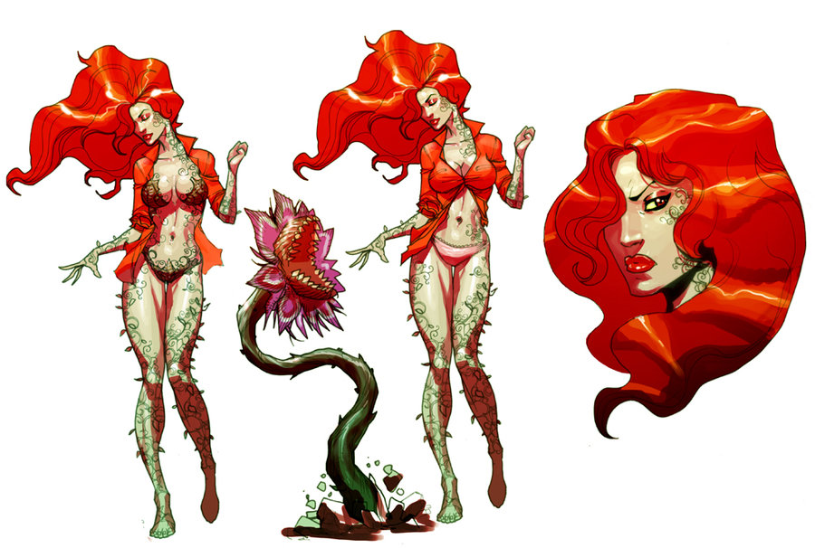 Poison Ivy Plant Tattoo Poison Ivy concept art by