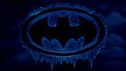 Frozen Batman Logo