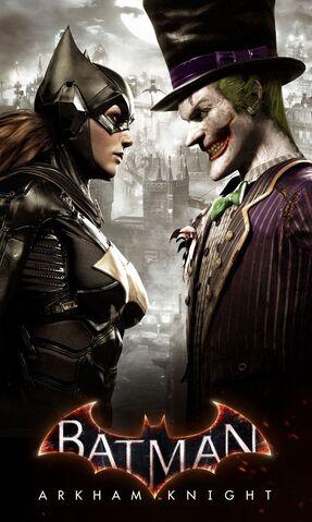 File:Arkham Knight Batgirl vs Joker face-off poster.jpg