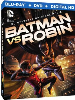 Batman vs Robin Blu-Ray Cover
