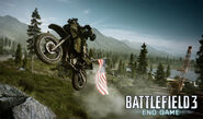 BF3 End Game CTF Kiasar Railroad Dirt Bike Screenshot