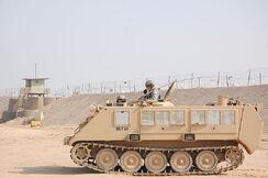 800px-USAF M113 APC at Camp Bucca, Iraq