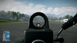 BF3 M249 Red Dot Sight View