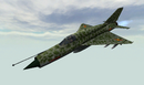 BFV MiG-21 FRONT IN FLIGHT