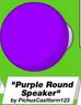 Purple Round Speaker
